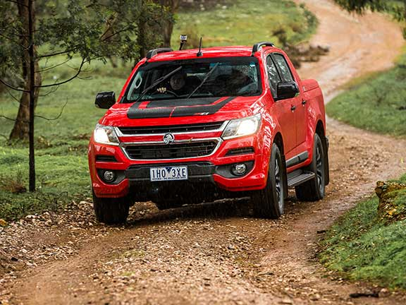 Holden Colorado ute on dirt road