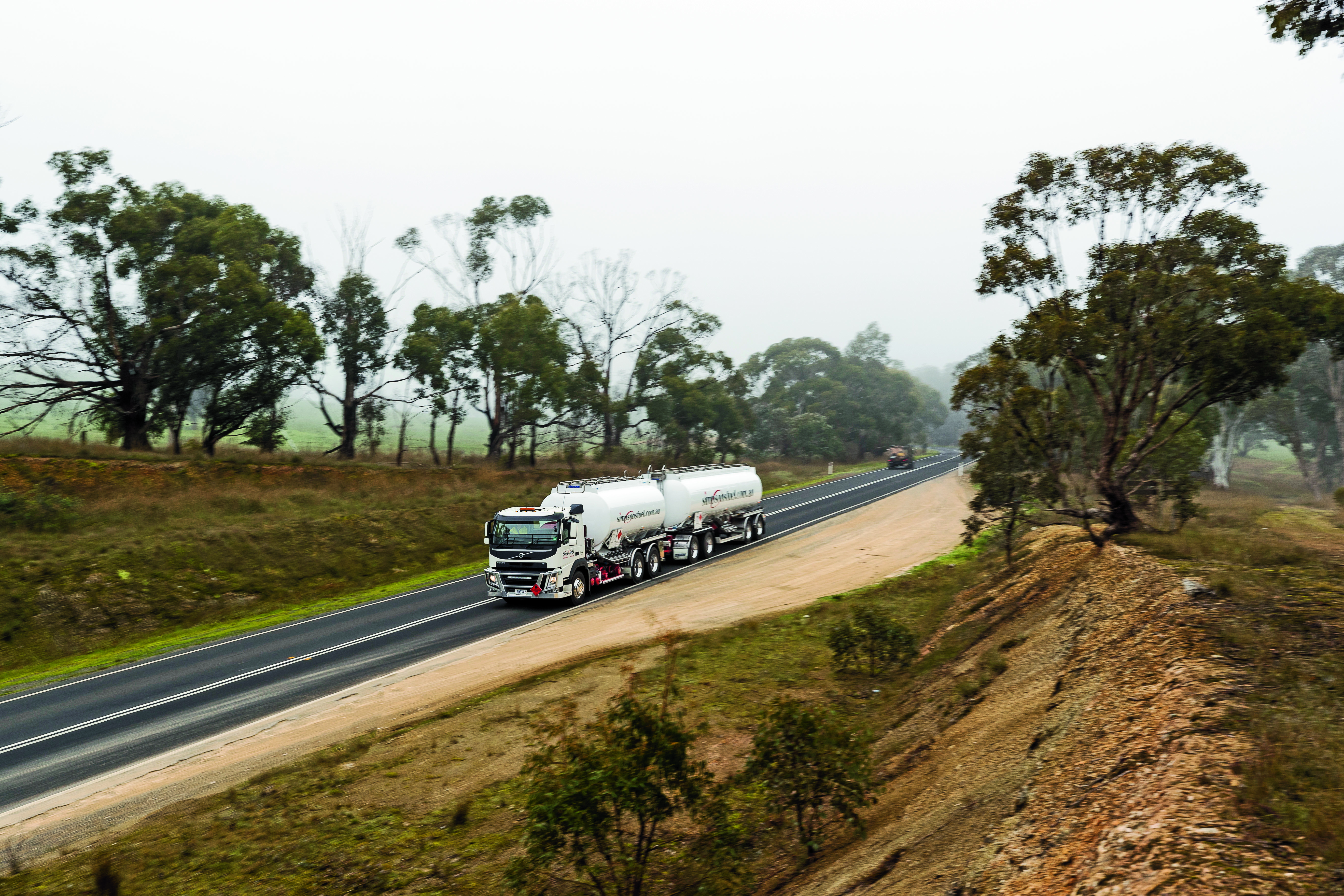 Volvo fuel challenge truck on the road