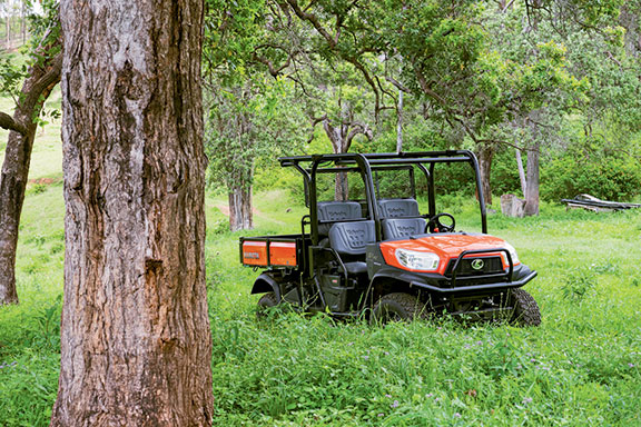 The Kubota X1140 UTV front on